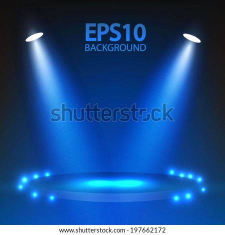 Stage spotlights. Vector illustration - stock vector