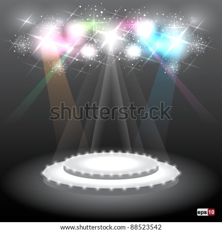 Stage with Sparkle Vector  eps10 - stock vector