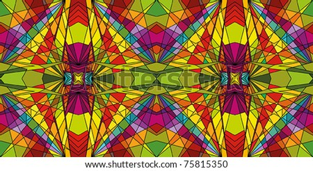 Stained glass - colorful repeating background - stock vector