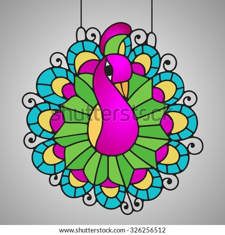 Stained Glass Peacock Decor For Your Home Bird Brings Good Luck And Happiness In The