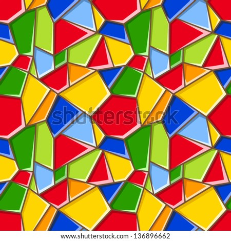 Stained glass. Vector seamless background. - stock vector