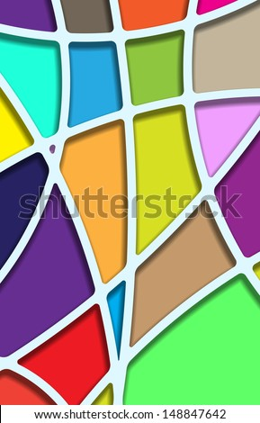 Stained glasses. Vector.  - stock vector