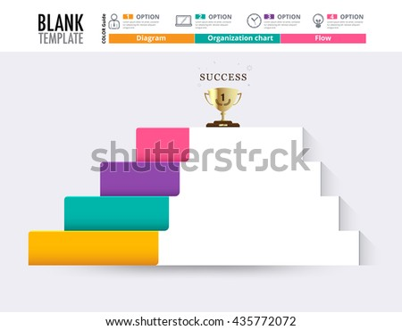 Stair Success Infographic Design Template Replace Stock Vector