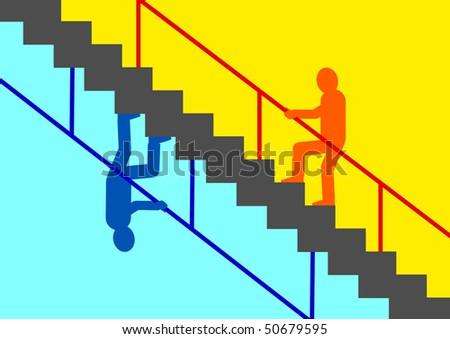 Staircase - stock vector