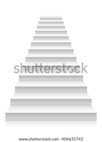 Staircase on a white background. - stock vector