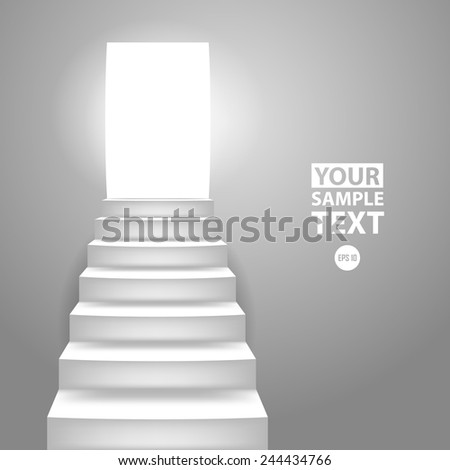 Staircase. Vector illustration. - stock vector