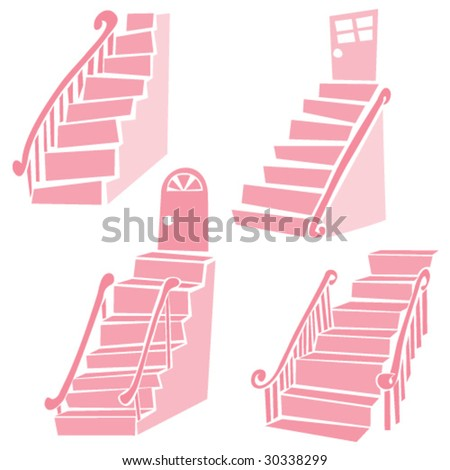 Staircases - stock vector