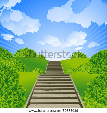 Stairs. Vector. - stock vector