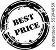 Stamp Best price - stock vector