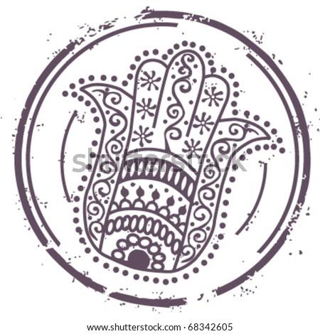 Stamp Fatima hand - stock vector