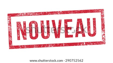 Stamp New in French - stock vector