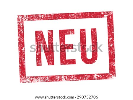 Stamp New in German - stock vector