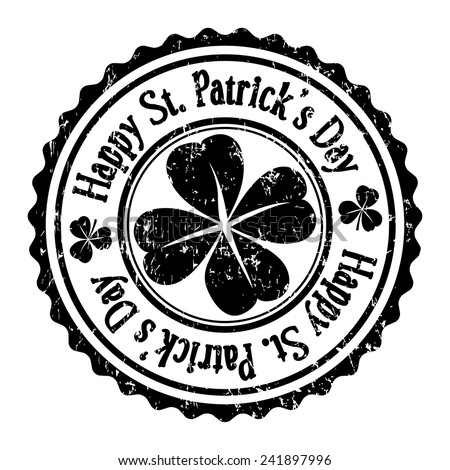 Stamp of St. Patrick's Day,vector illustration  - stock vector