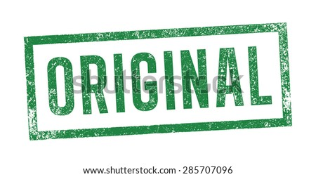 Stamp Original - stock vector
