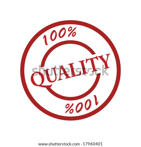stamp quality 100% - stock vector