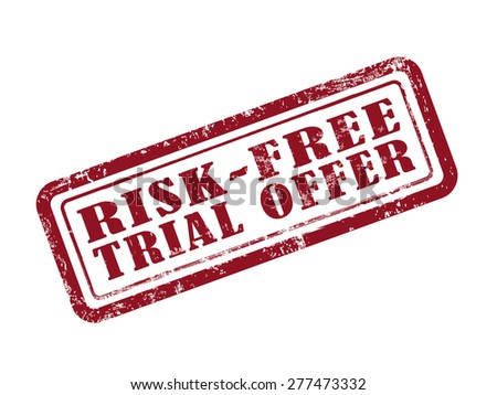stamp risk-free trial offer in red over white background