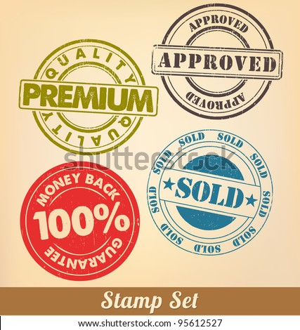 Stamp Set - stock vector