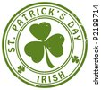 "stamp ""St. Patrick's Day"" - stock photo"