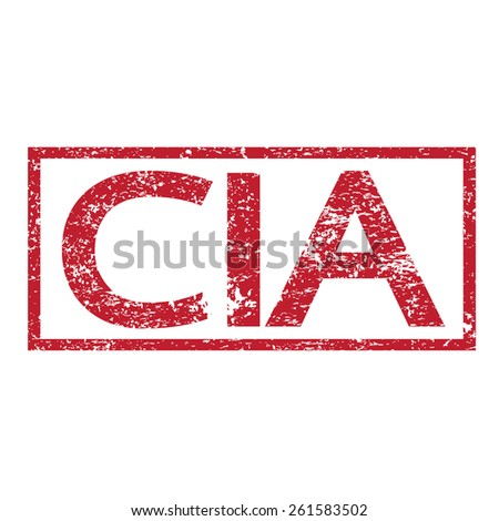 Stamp text CIA - stock vector