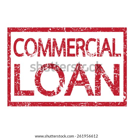 Stamp text COMMERCIAL LOAN - stock vector
