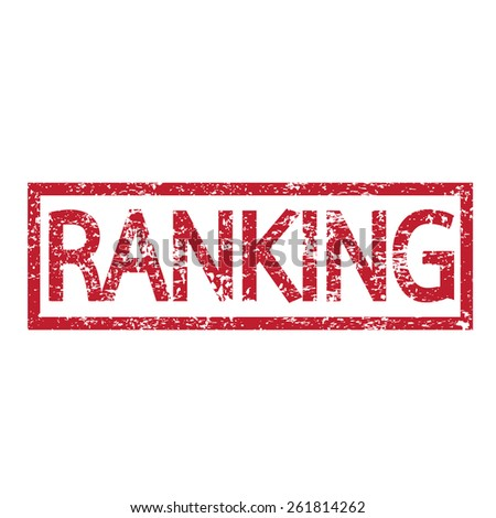 Stamp text RANKING - stock vector