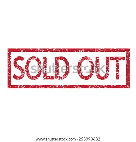 Stamp text sold out  - stock vector