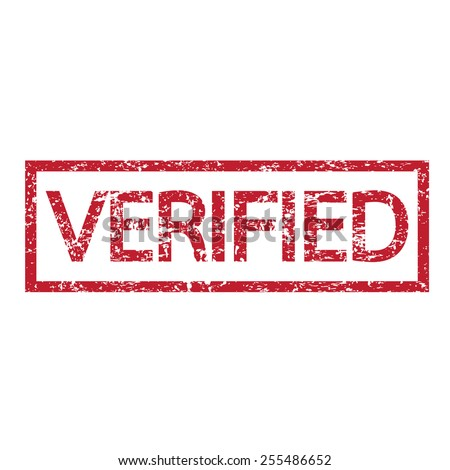 stamp verified text - stock vector