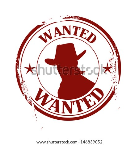 stamp wanted - stock vector