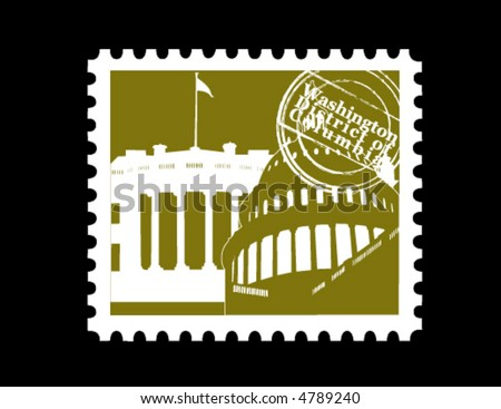 Stamp, Washington District of Columbia - stock vector