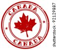 stamp with name of Canada - stock vector