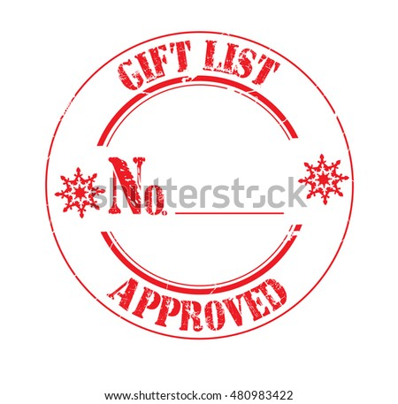 "stamp with text ""approved by workshop elf"" isolated on white background."