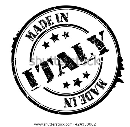 "stamp with text ""Made in Italy"" isolated on white background. Vector illustration - stock vector"