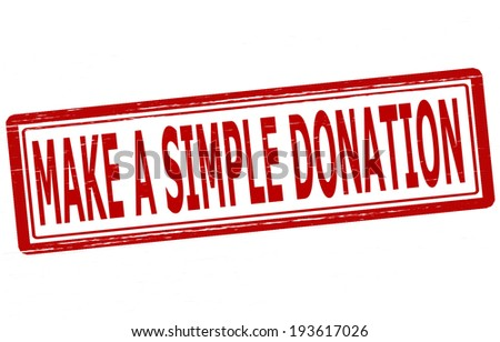 Stamp with text make a simple donation inside, vector illustration - stock vector