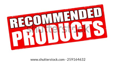 Stamp with text recommended products inside, vector illustration - stock vector