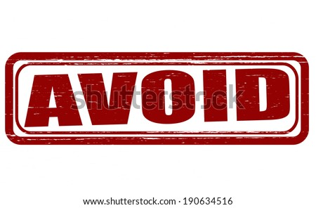 Stamp with word avoid inside, vector illustration