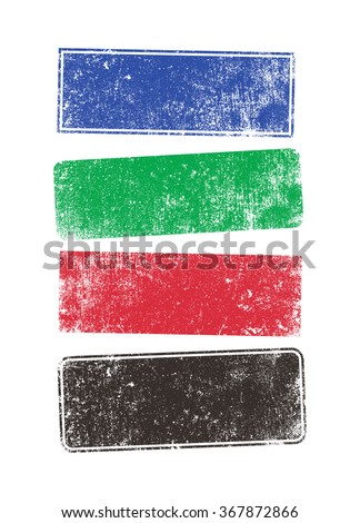 Stamps shapes - stock vector