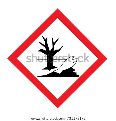 Standard Pictogam Environmental Hazard Symbol Warning Stock Vector