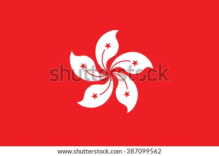 Standard Proportions and Color for Hong Kong Official Flag - stock vector