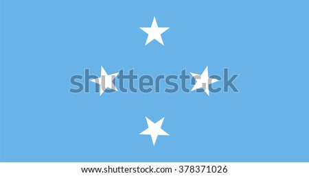 Standard Proportions and Color for Micronesia Flag - stock vector
