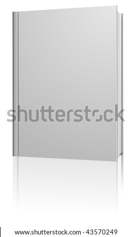 Standing blank hardcover book isolated on white background. - stock vector