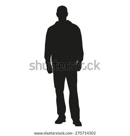 Man Silhouette Standing Stock Photos, Images, & Pictures ...