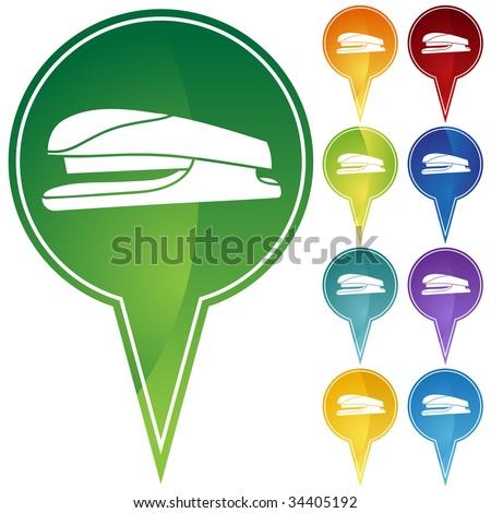 stapler icon pin - stock vector