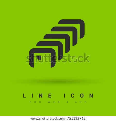 Staples Minimal Icon Clamps Line Vector Stock Vector 751132762