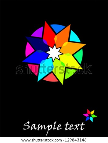 Star - abstract design element - stock vector