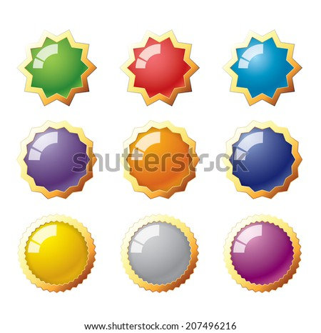 Star and circle buttons