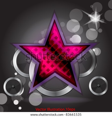 star background with dynamics Vector illustration - stock vector