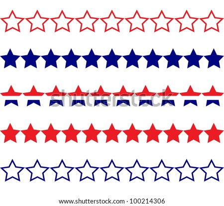 Star Borders - stock vector