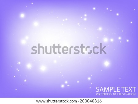 Star bright abstract  space illustration - Abstract flares background design illustration template - stock vector