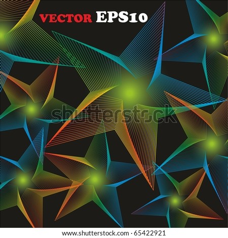 Star bright abstract. Vector background for your design. - stock vector