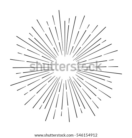 Star burst design element on white background